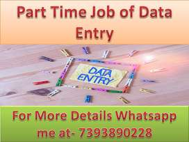 Weekly earn home based job of data entry part time work available /-
