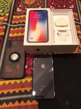 Iphone x grey 10/10 condition 256gb complete box