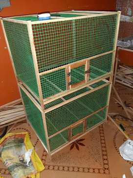 All birds cages we made