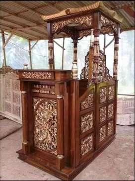 mimbar masjid kubah jati terkini