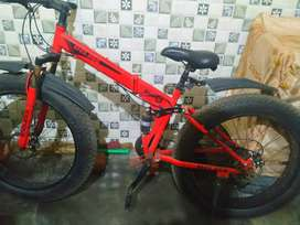 Endless 26T Foldable Fat Tyre Double Suspension Mountain Bike