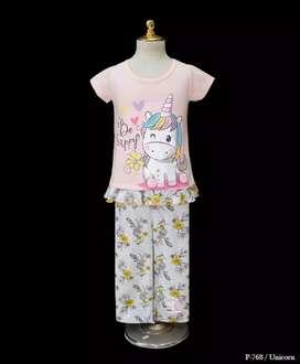 Baju anak celana panjang kaos anak unicorn baju tidur