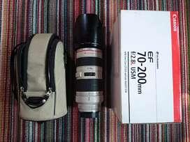 Lens canon 70 200 mm f2,8 L usm