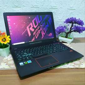 laptop ASUS ROG i7 RAM 16GB HDD 1TB beakas second
