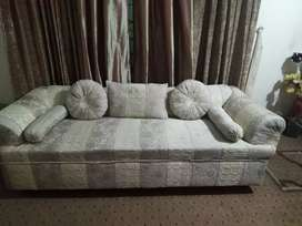 One piece of sofa for sitting nd sleeping. Its very big in normal size