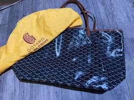 Goyard bag St Louis tote bag black tan Large