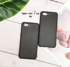 Casing Softcase Black Slim Oppo A3S Case Silikon Tpu Ultral Slim Black