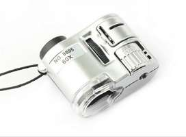 Professional Mini Lens 60X Pocket Magnifier Microscope With LED Light