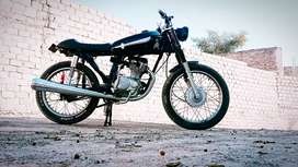 Jhung number 3465 Honda 125 fresh condition in new look CAFE RACER