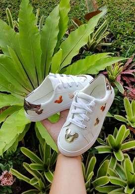Mickey sneaker anak white import