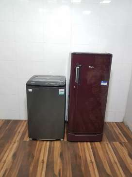 Mates 5 star rating refrigerator and black t/l washing machine
