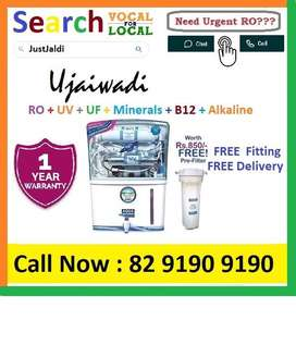 Ujaiwadi AquaGrand RO Water Purifier Water Filter AC dth bed car TV Aq