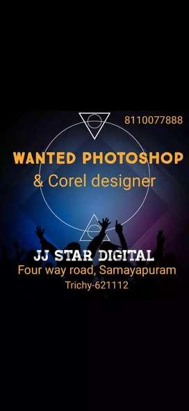 Wanted Photoshop  & Corel designer