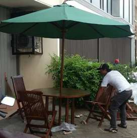 Meja payung jati,kursi lipat,meja taman jati,meja outdoor