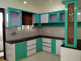 3 BHK semi furnished flat for rent near Panchavati Colony Manikonda.