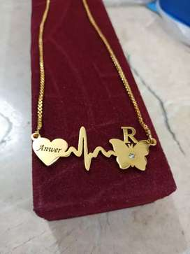 Customized unique design with name on heart locket