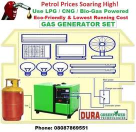 Your Own Power House-Very Low running Cost-LPG/CNG/Bio-Gas Run Gensets
