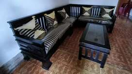 Kursi sudut kayu minimalis cantik