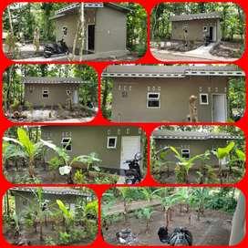 jual rumah bentuk kontrakan petak dan kebun pisang