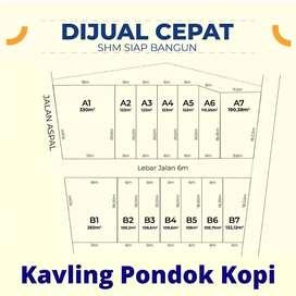 Dijual tanah kavling di Pondok kopi Jakarta timur dekat stasiun