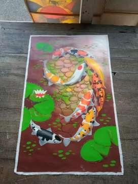 Lukisan canvas cat minyak
