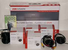 4 CCTV Camera 1MP 720-P Dahua & Hikvison