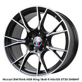 buat bmw WURZEL BW7046 HSR R18X8/9 H5X120 ET35 SMBMF