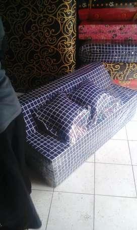 sofabed kasur busa lipat no 3 10x120x180 cod & free ongkir bandung