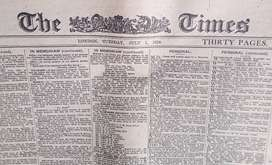 The Times 1 July 1924 old newspaper 500