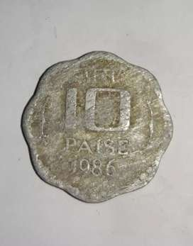 10  paisa 1986