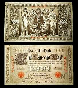 JADUL LANGKA UANG KERTAS lebar LUAR NEGERI th 1910