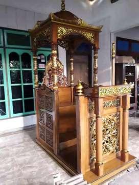 mimbar masjid mihrab model biasa