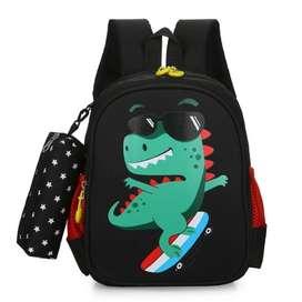 Tas Ransel Sekolah King Dinosaur Anak Laki Laki Paud TK SD