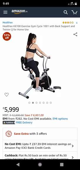 Exercise gym cycle for sell, working condition