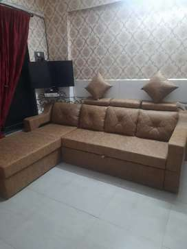 L Shape Sofa Cumbed Set Just 6 Month Oldest With Sofa Cover