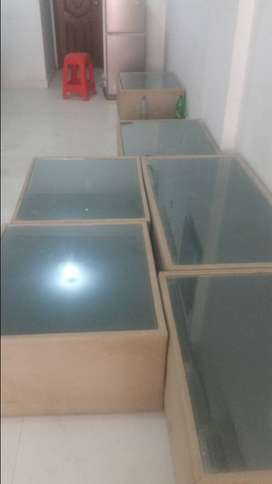 Tables with glass top