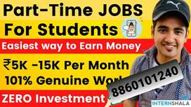 Make money by part time any where with part time job