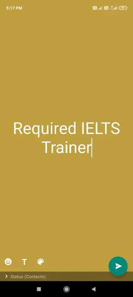 Required IELTS Trainer