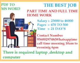 Excellent JOB Offer for All interested person (Typing Work)