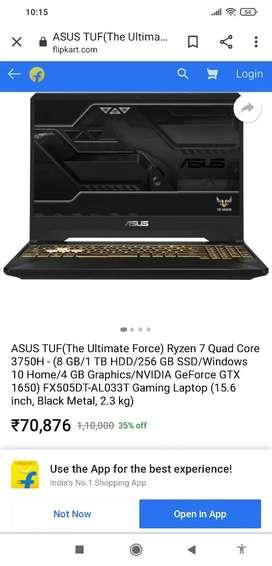 ASUS TUF Gaming Laptop Ryzen 7 NVIDIA GeForce GTX 1650