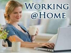 WORK FROM HOME, HANDWRITING NOTE Making WORK