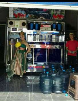 Pusat industri depot air minum partisi stainlees dari Damisiu