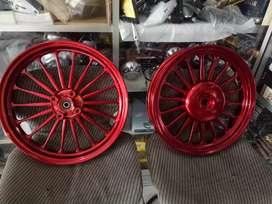 Velg pcx power merah full cnc spesial langka barang baru