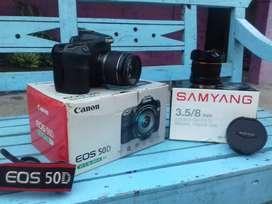 CANON 50d+lensa kit+SAMYANG 8mm FISH EYE