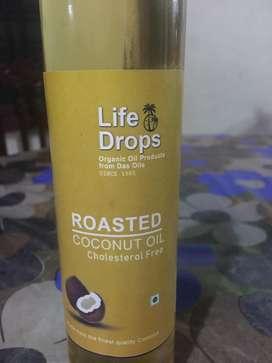 Bottled organic coconut oil