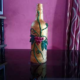 Grapes Glass bottle decor