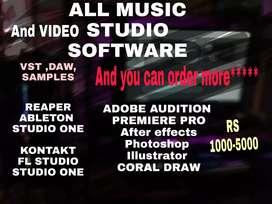 Studio audio and video editing softwares