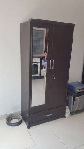 New Wooden almirah 5.5ft by 2.5ft with mirror