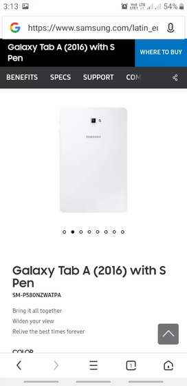 Galaxy Tab A 10.1 Inch with S Pen