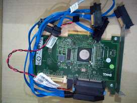 Dell YK838 SAS 6/ir UCS-61 PCIe x8 Controller Adapter Card + Cables